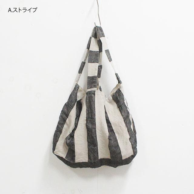 ICHI Antiquites イチアンティークス ヘリンボーンKOTOHIRADAKIバッグ ブラックストライプ メンズ レディース バッグ ショルダー トート LINEN リネン ストライプ 通販 (品番100927)