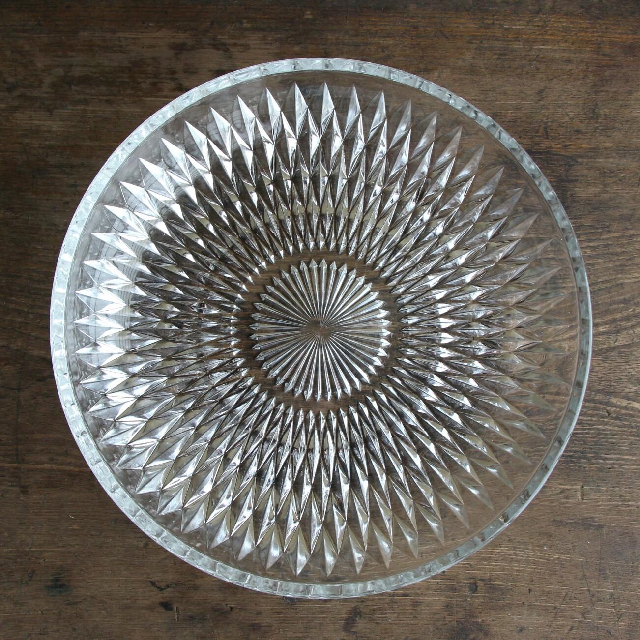 レトロなガラスのそうめん皿