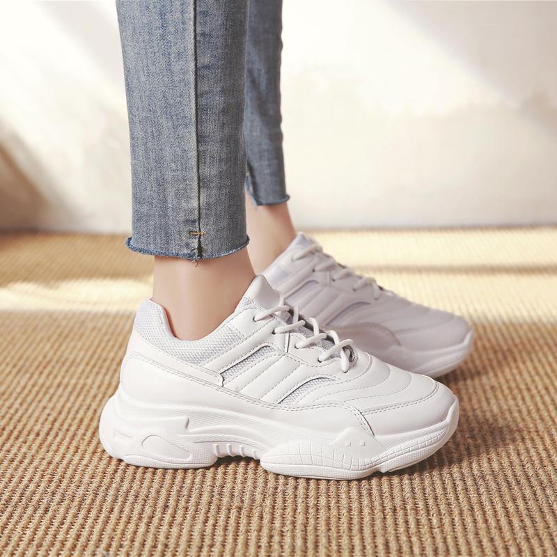 【shoes】簡約・シンプルホワイト厚底スニーカー17445674