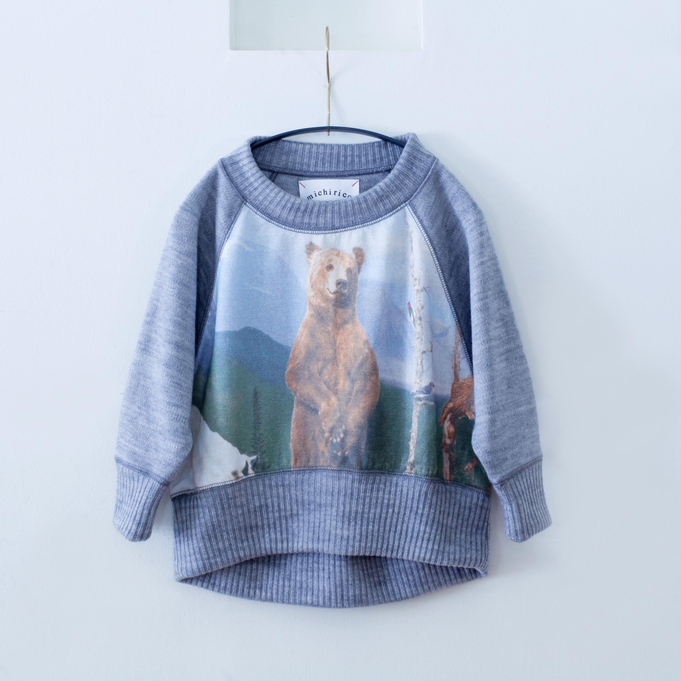 《michirico 2015AW》bear knit / gray / M(100-110cm)
