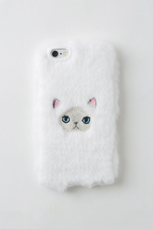 【iPhone6/6S専用】ヒマラヤンネコiPhone6/6Sカバー 【ホワイト】