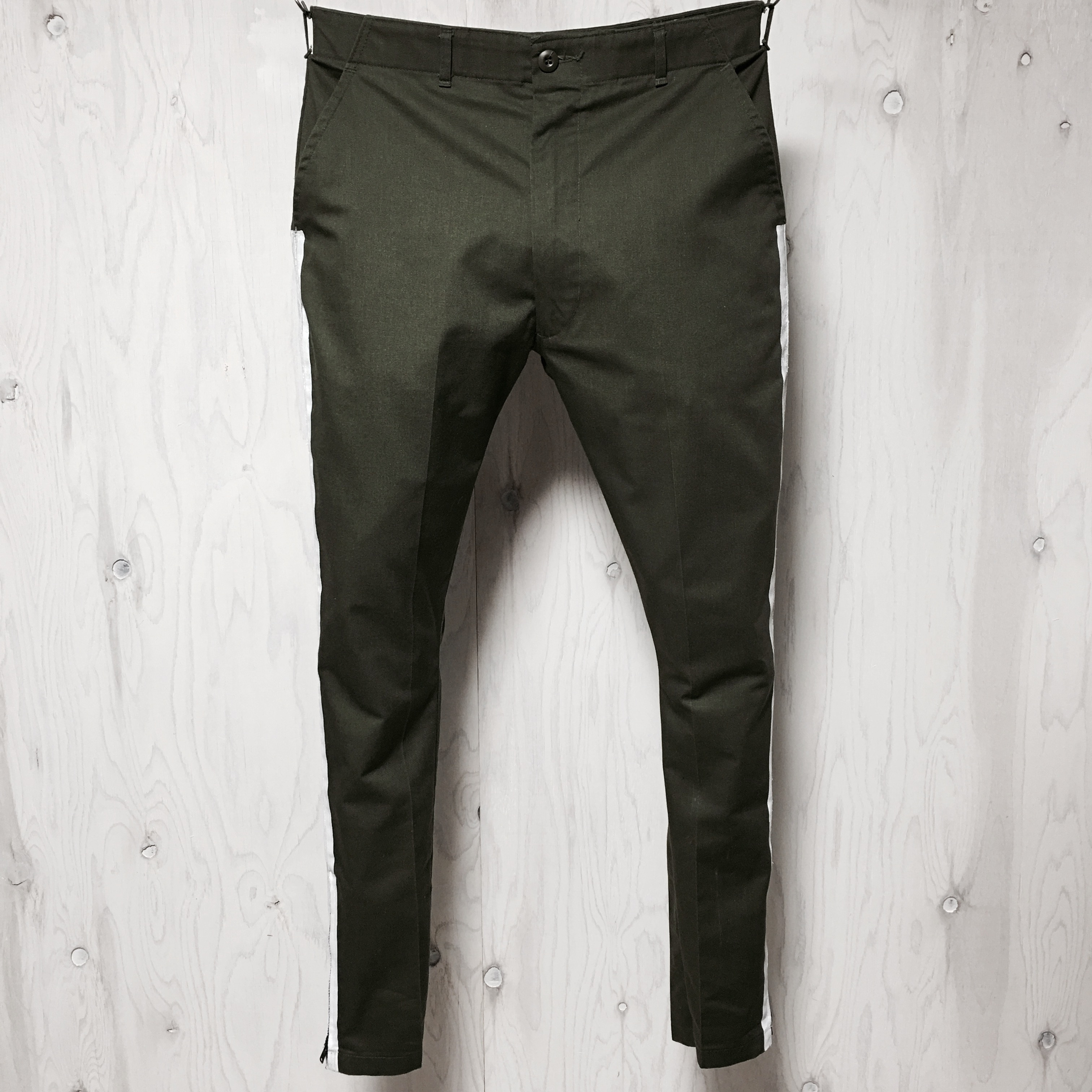 Utility pants tapered silhouette said line riri zip custom w33