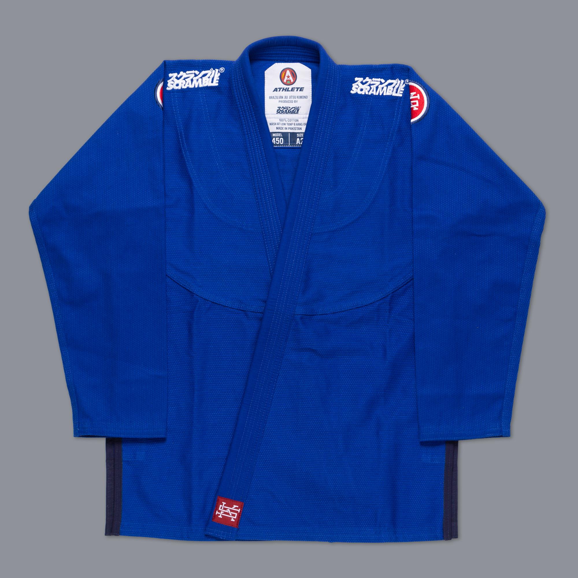 女性用 SCRAMBLE ATHLETE 4: 450(女性用カット / ブルー、青)|女性用ブラジリアン柔術衣