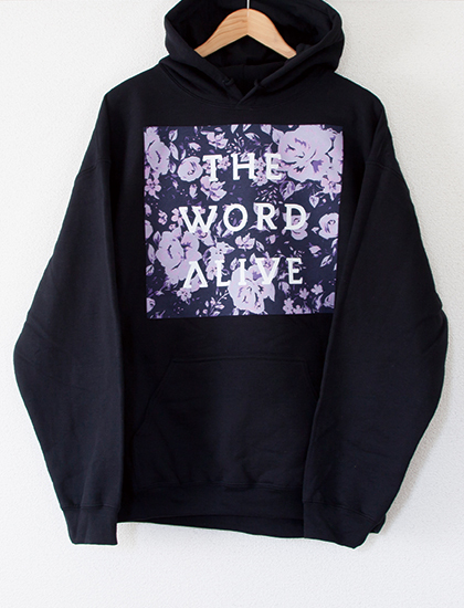 【THE WORD ALIVE】Floral Hoodie (Black)