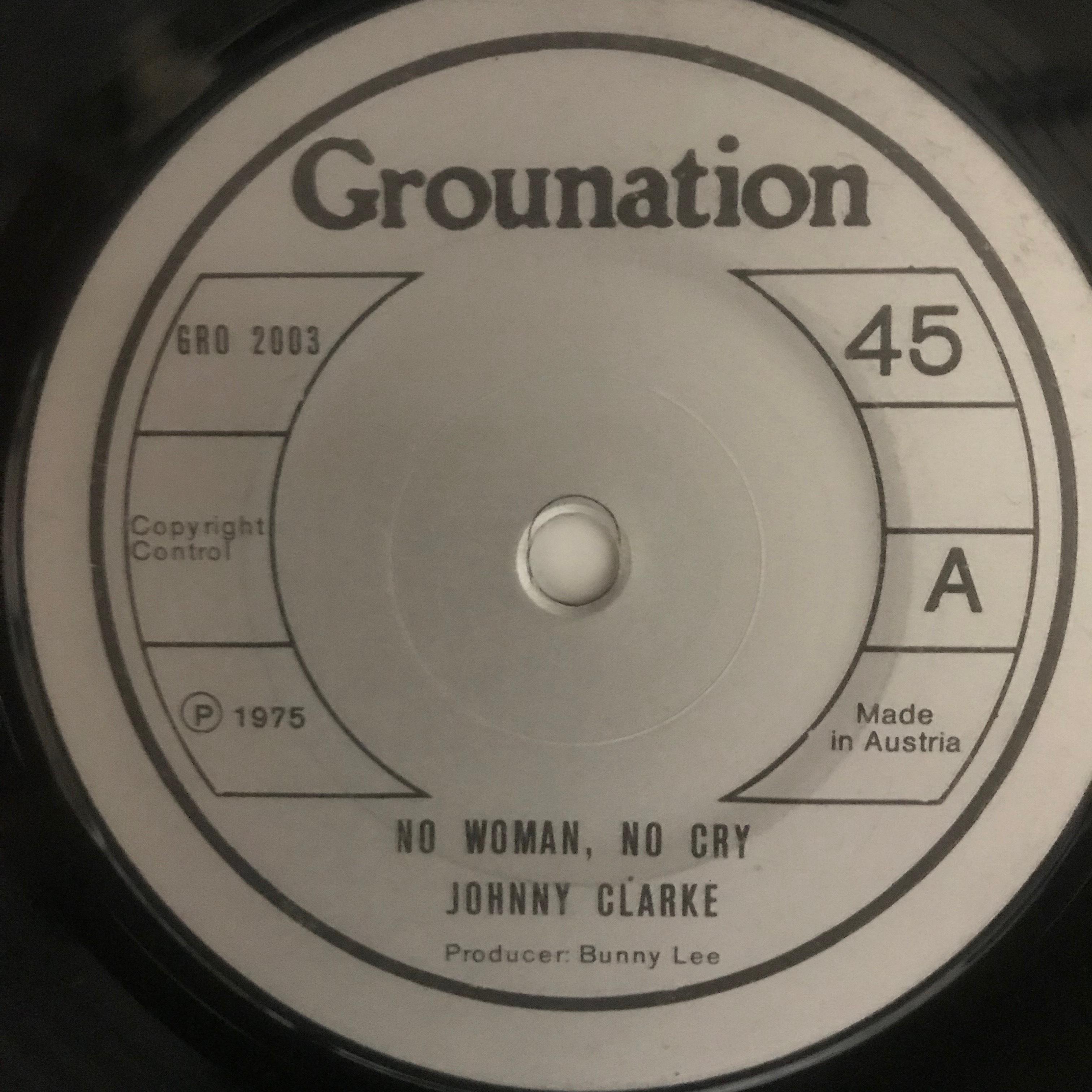 Johnny Clarke - No Woman No Cry【7-10778】