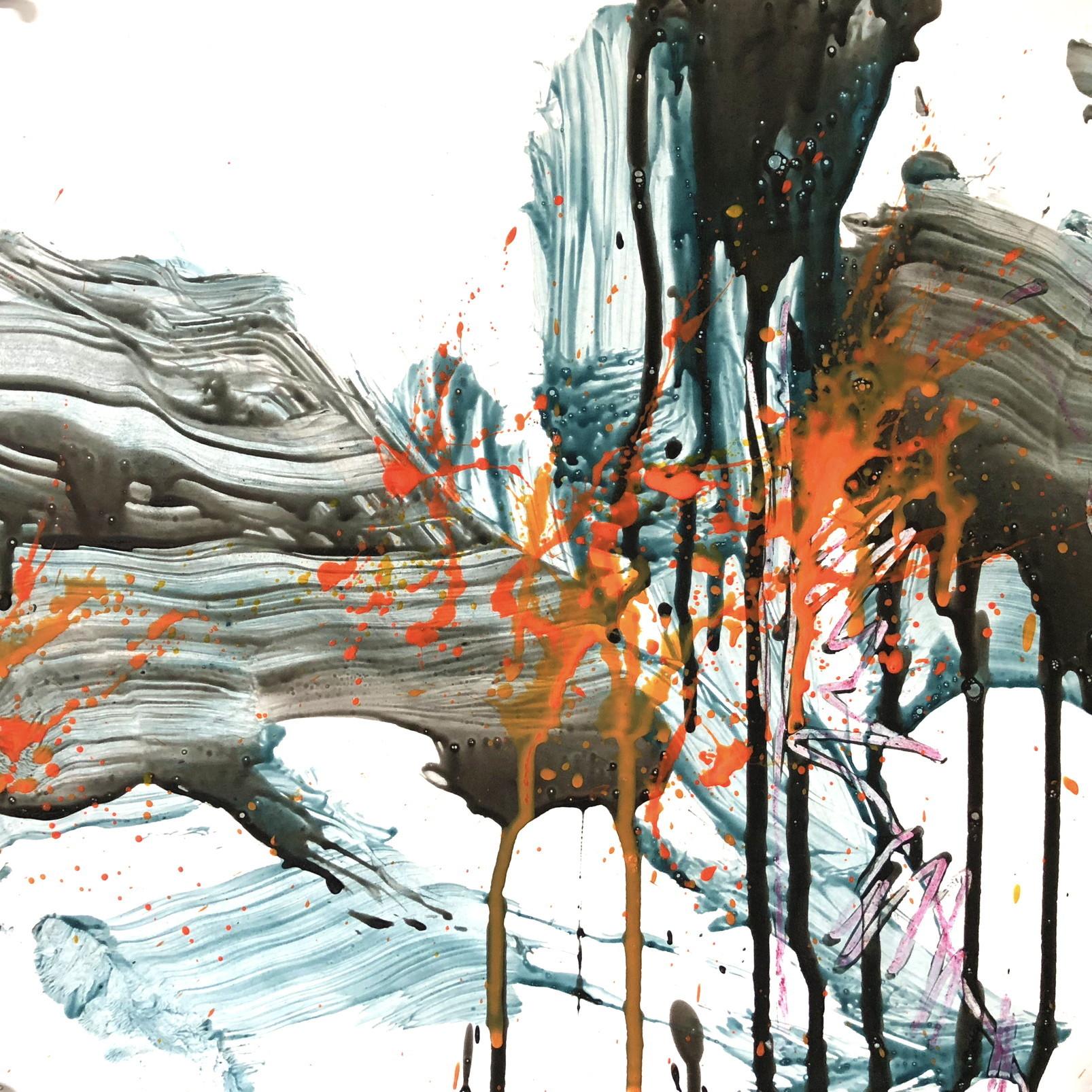 絵画 インテリア アートパネル 雑貨 壁掛け 置物 おしゃれ 抽象画 現代アート ロココロ 画家 : tamajapan 作品 : t-34  /