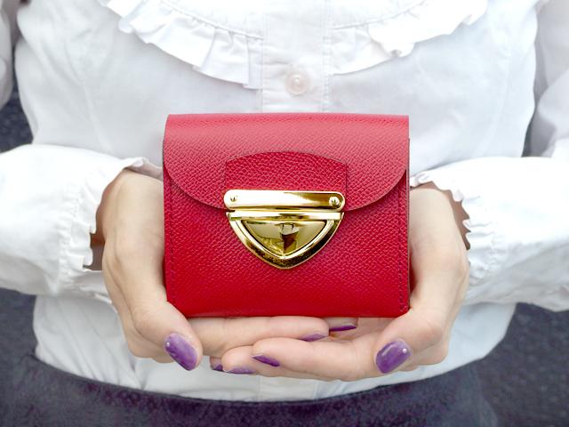 身軽にキメたい時のコンパクト財布|P式パーティーレザー・レッド