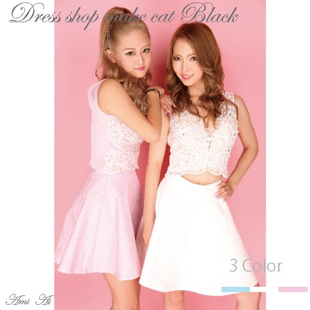 make cat original catalog 【Pink】 セットアップミニドレス ¥21,384- (税込) ROBE de FLEURS 1141キャバドレス ドレス パーティー