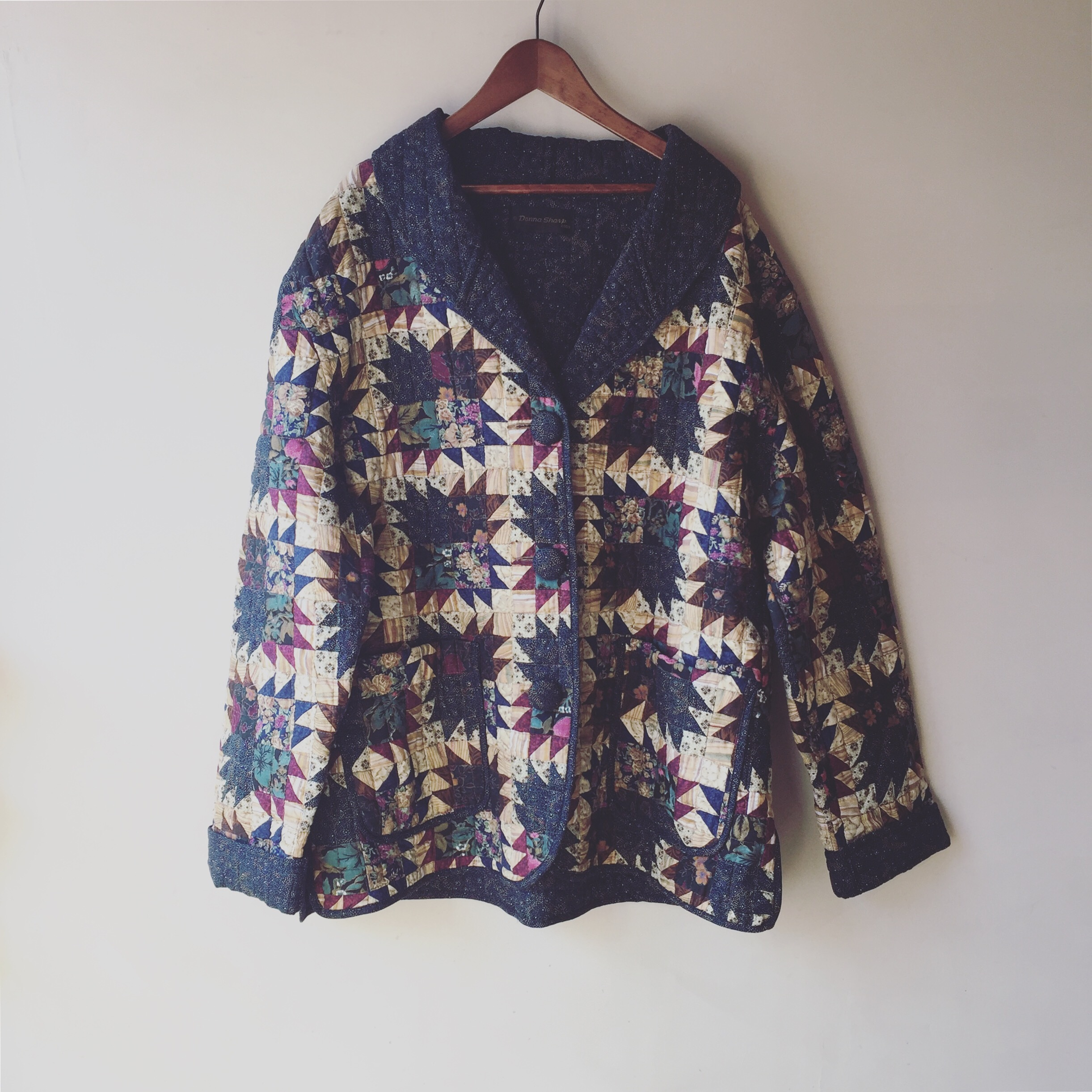 vintage patchwork quilting jacket