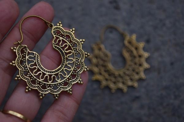 真鍮ピアス -泡- 【India】