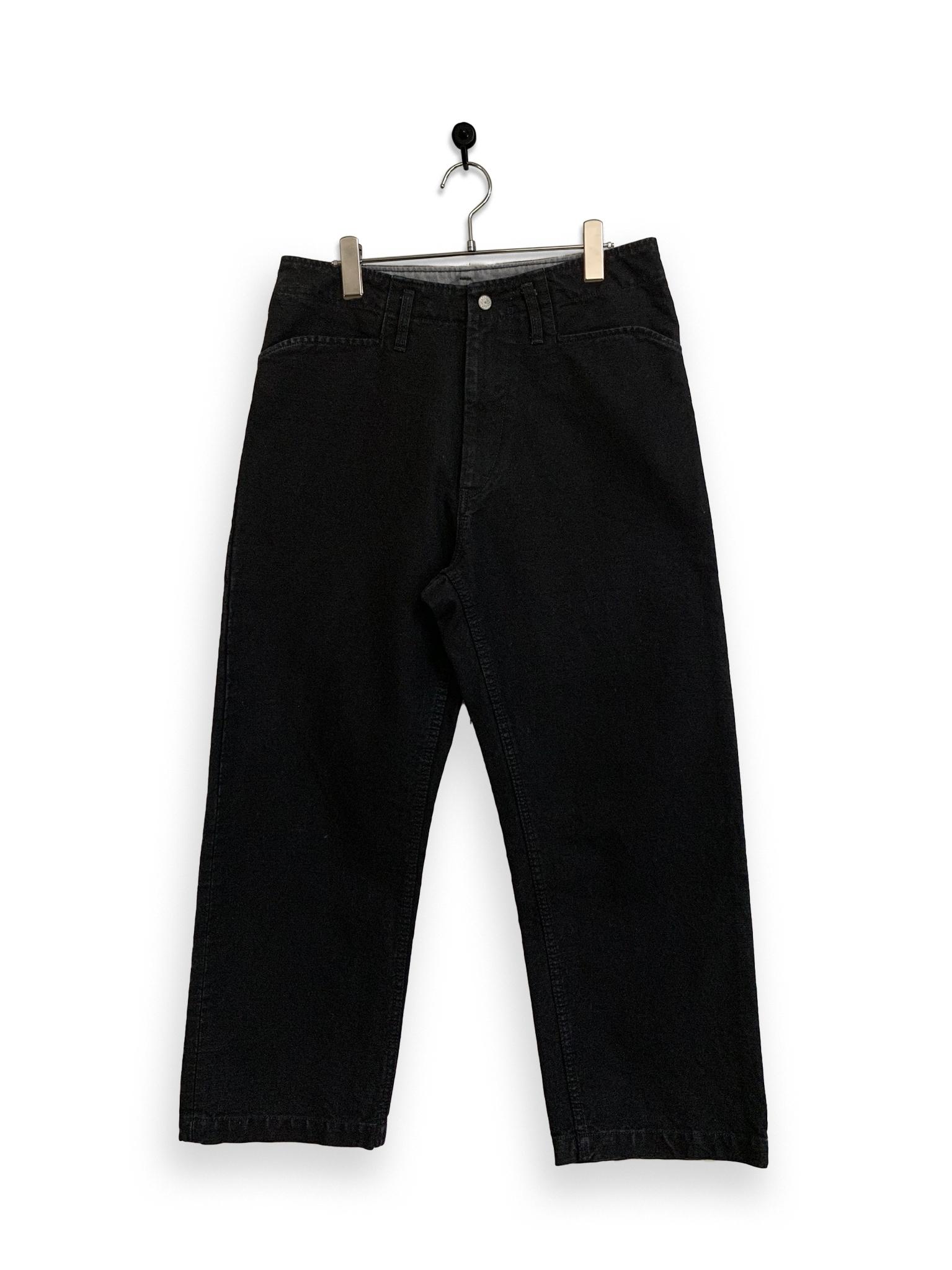 13.5oz Canvas Frisco Pants / garment dyed / black