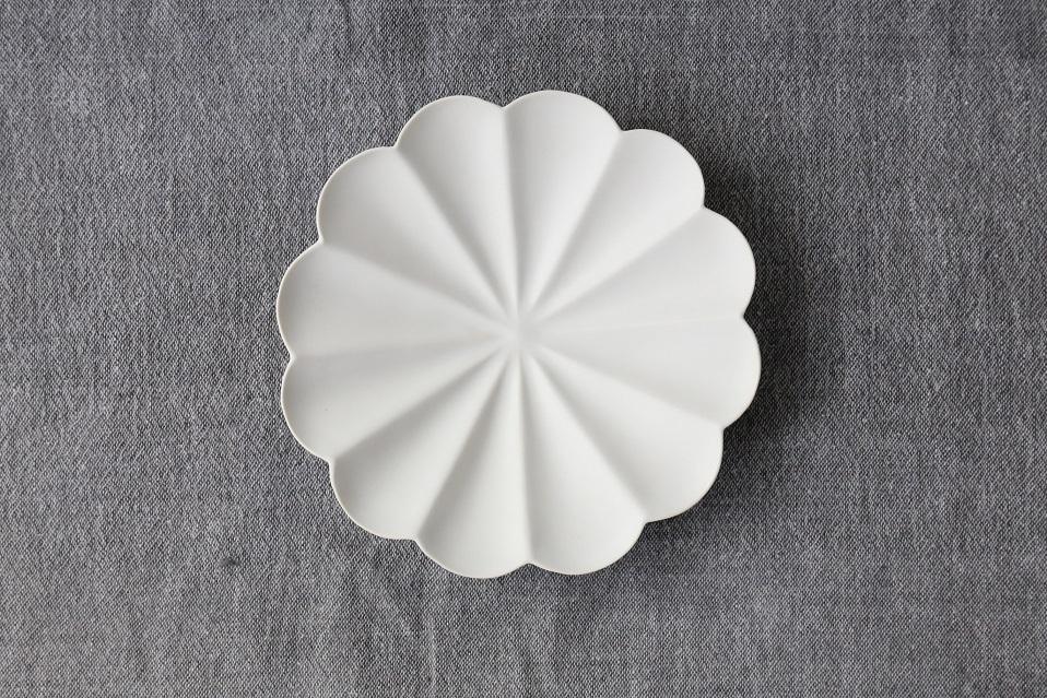 臼杵焼 輪花十二弁浅鉢 rin012