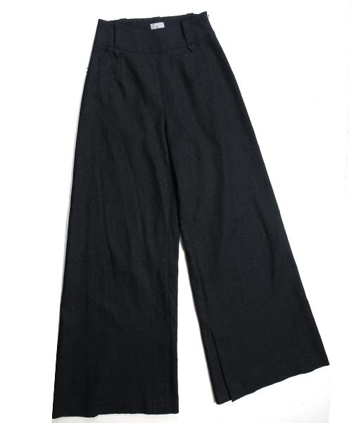 df17SS-IR04 WIDE PANTS LINEN