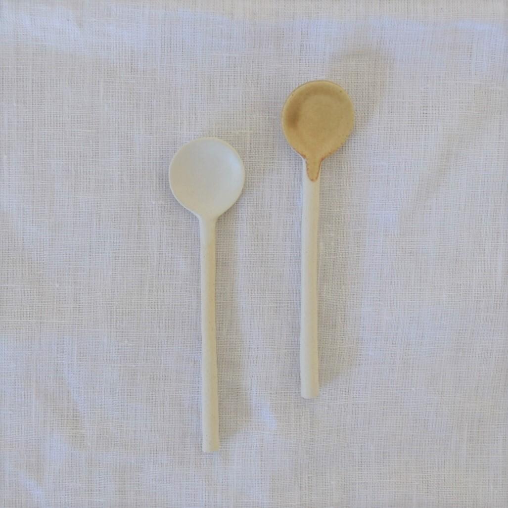 【studio m'】陶器のまるスプーン