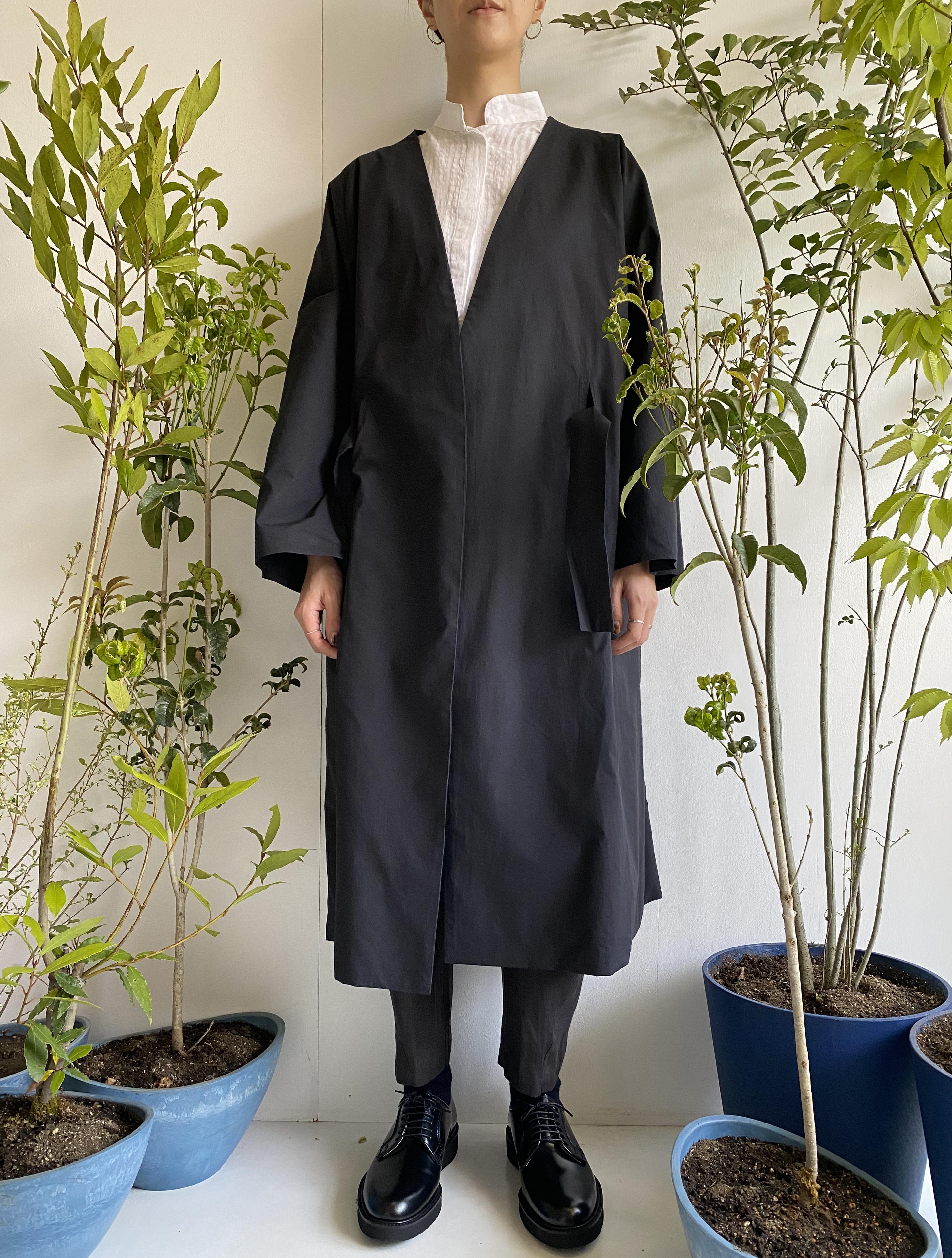 "Gown Coat ""black"" organic cotton"