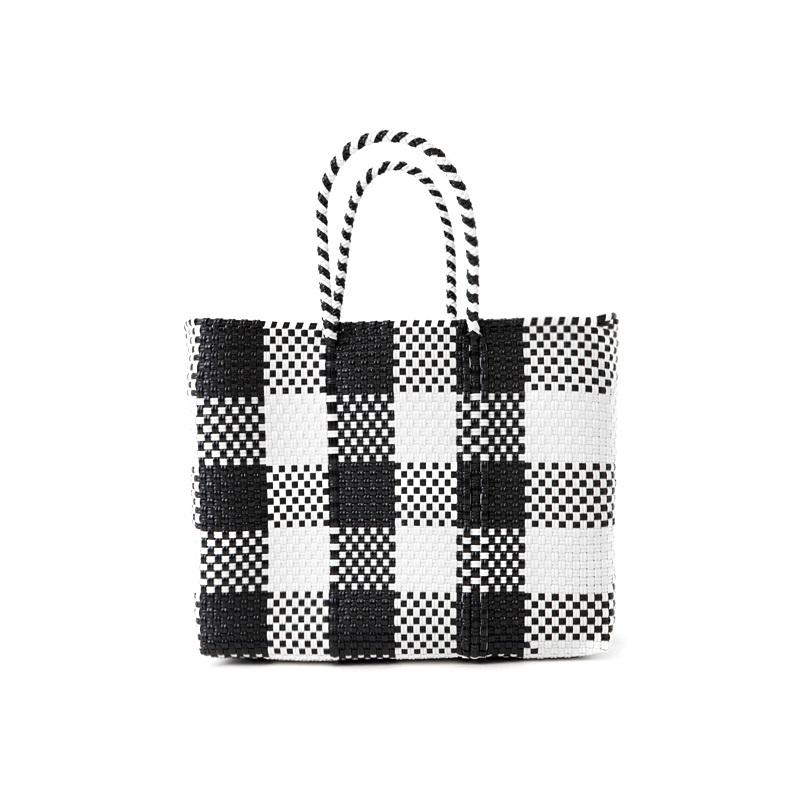 MERCADO BAG CHECK - White x Black(XS)
