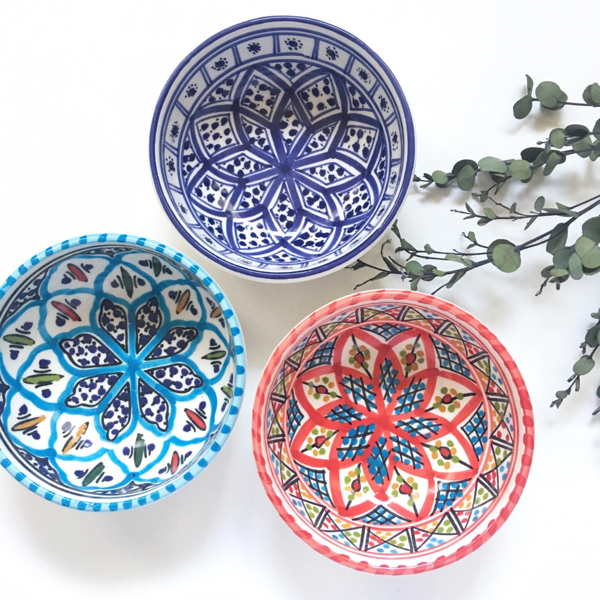チュニジア陶器 ボール小