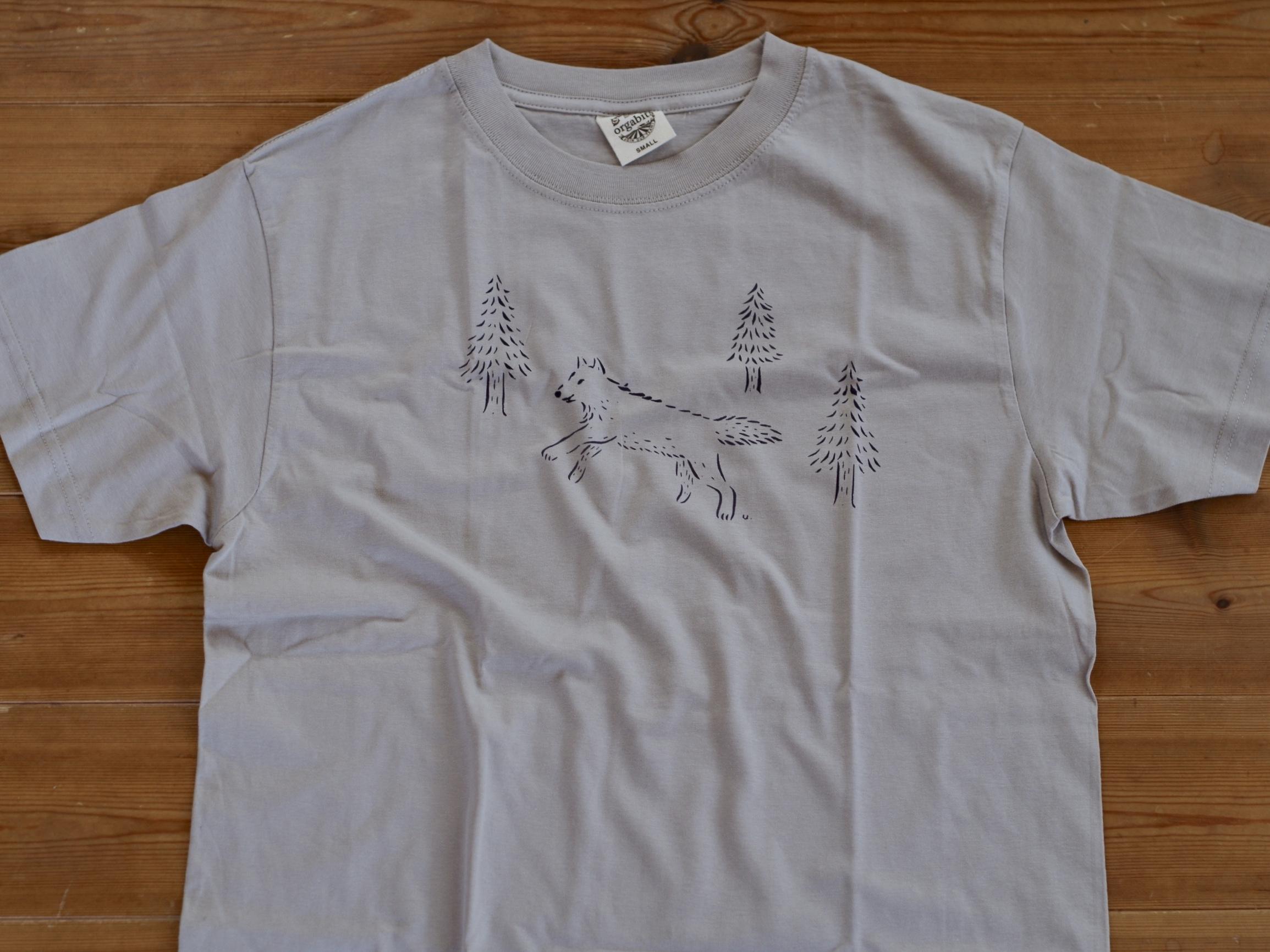森のおおかみ君Tシャツ Lサイズ