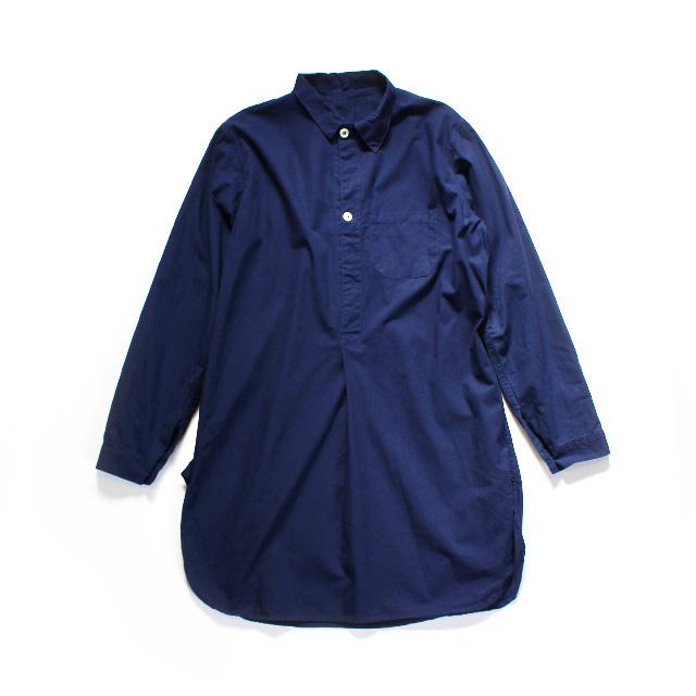USED / Sweden Military Grandpa Shirts / REPLICA / Ladies FREE / Navy