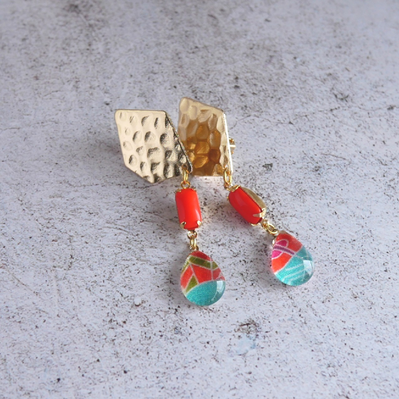 """ Earrings NO.0-1909 ″ リバティとヴィンテージパーツ"