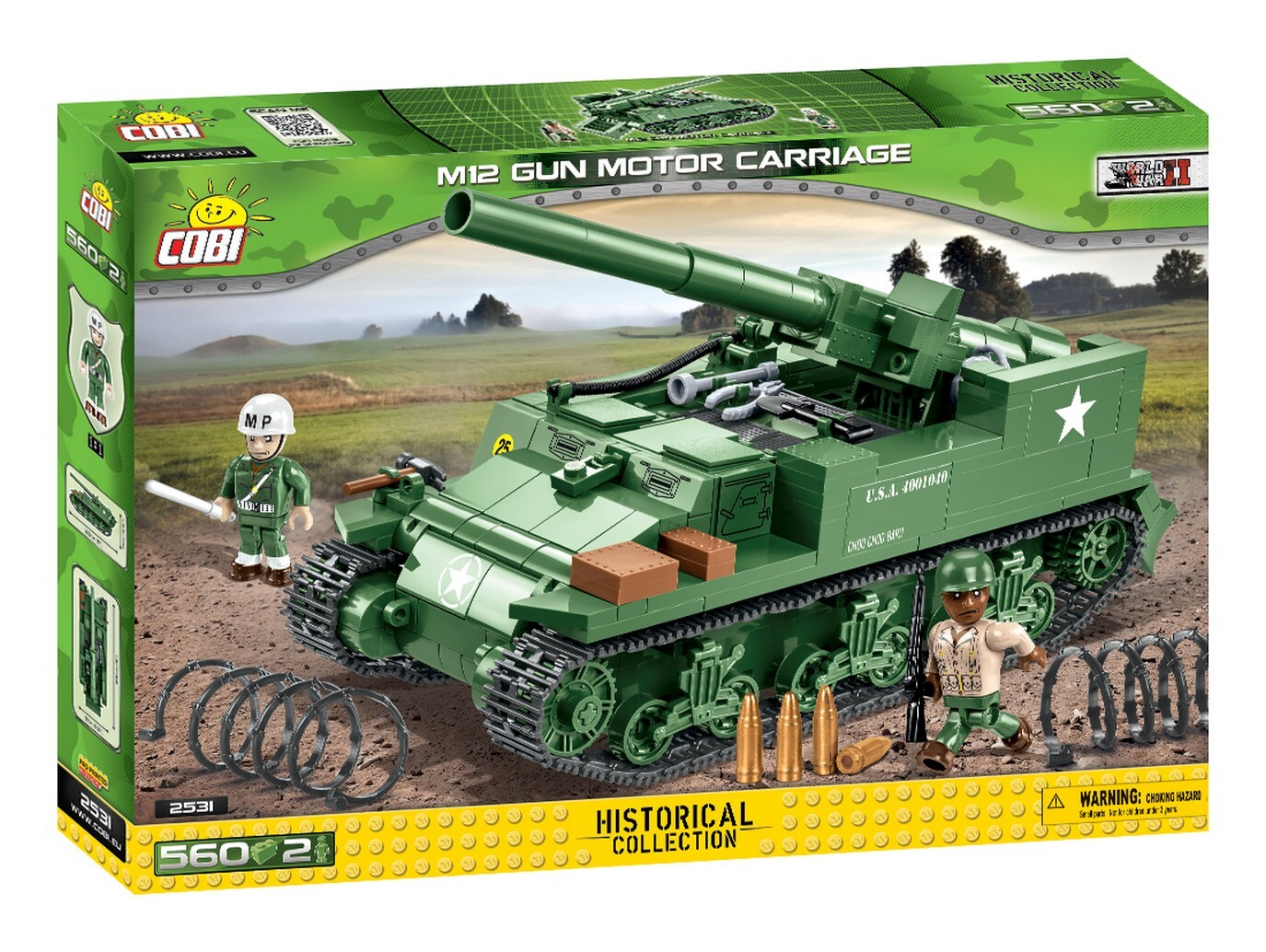 COBI #2531  M12 155mm自走カノン砲(M12 Gun Motor Carriage)