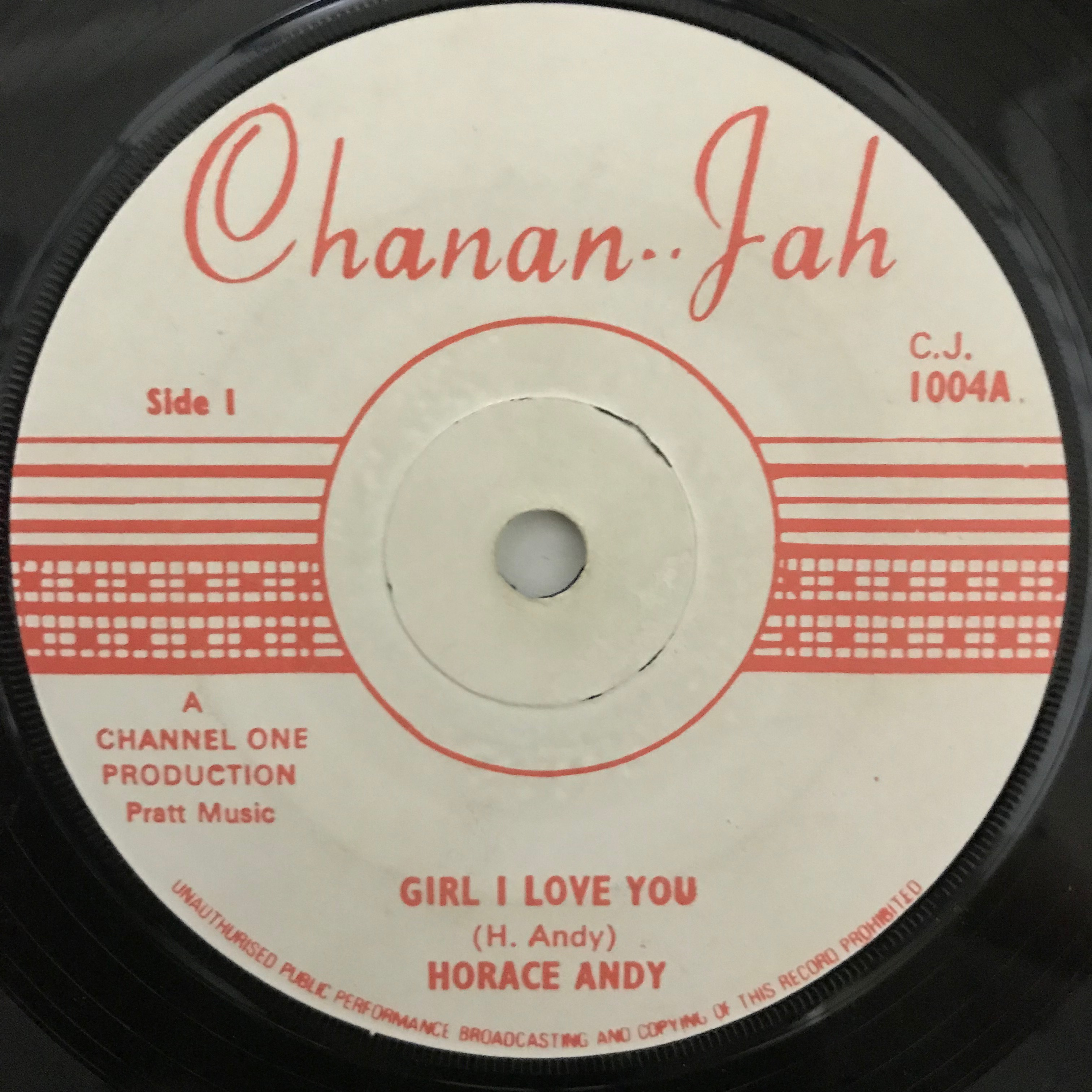 Horace Andy(ホレス アンディー) - Girl I Love You【7-10780】
