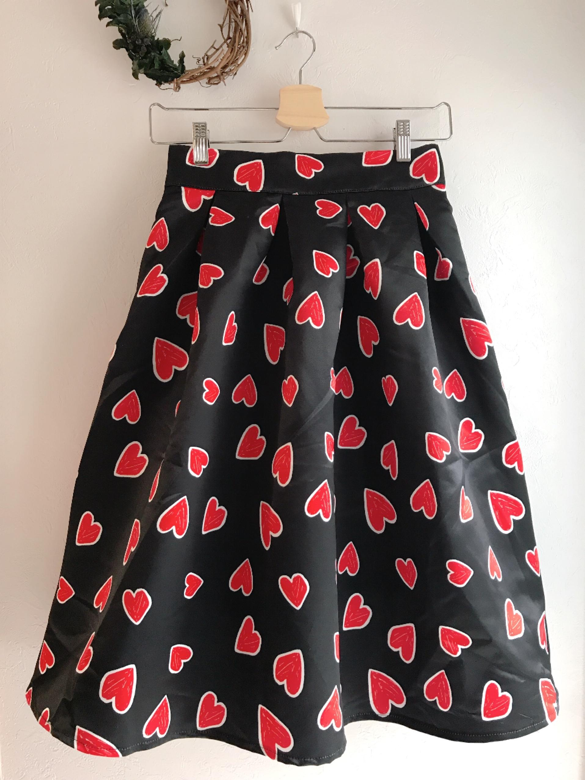 2レングス♡ラブリーハートのスカート