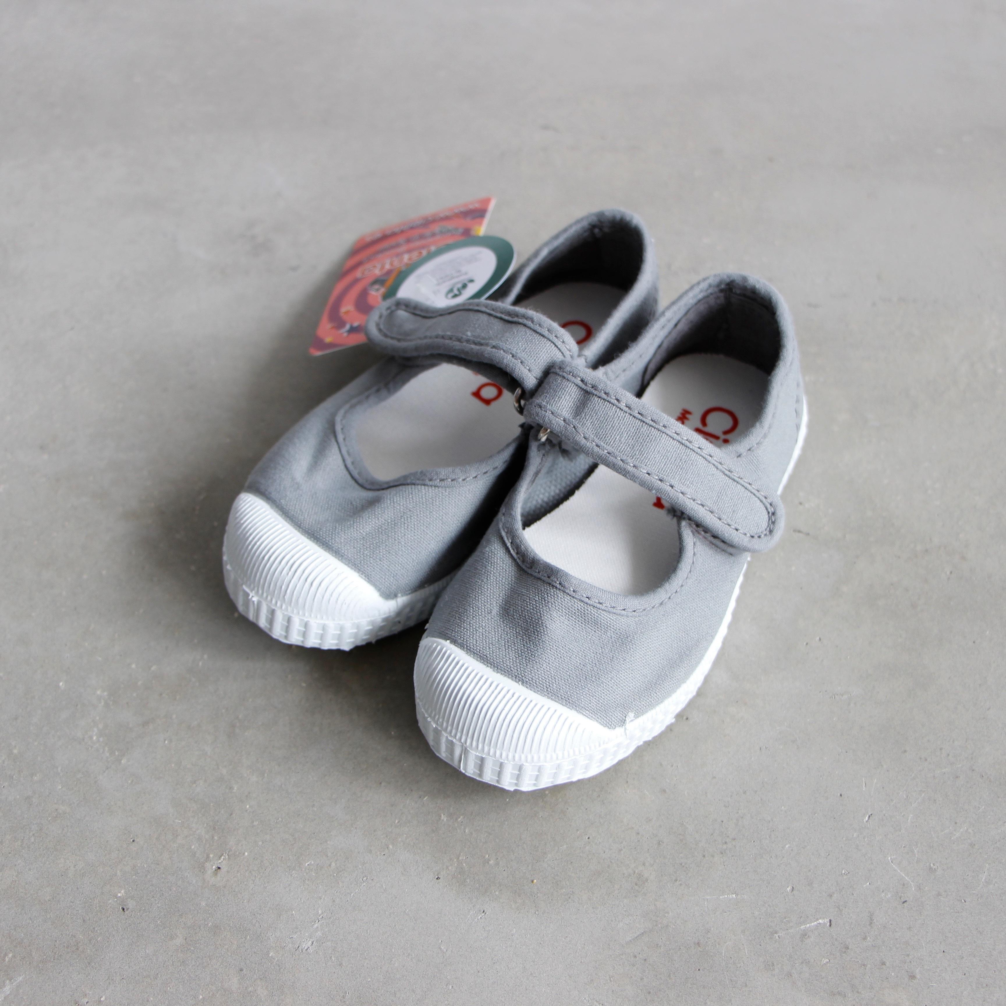 《CIENTA》ベルクロワンストラップ / GRIS(gray) / 12.5〜20cm