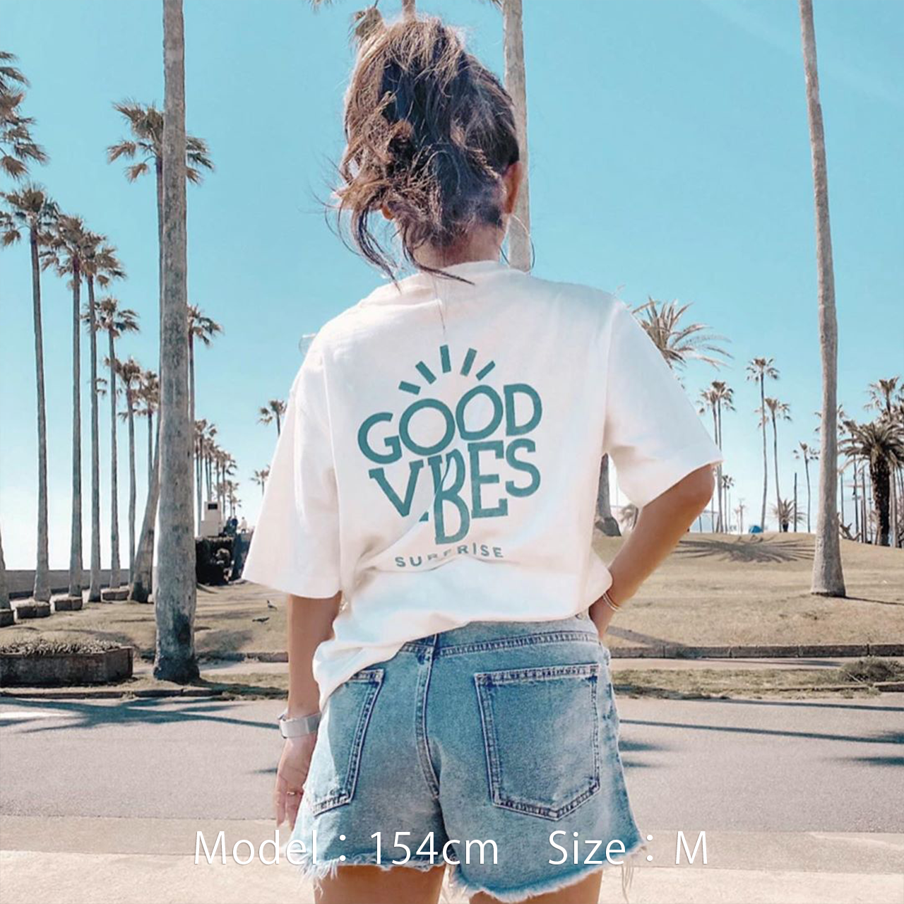 GOOD VIBES Tee - Vintage white