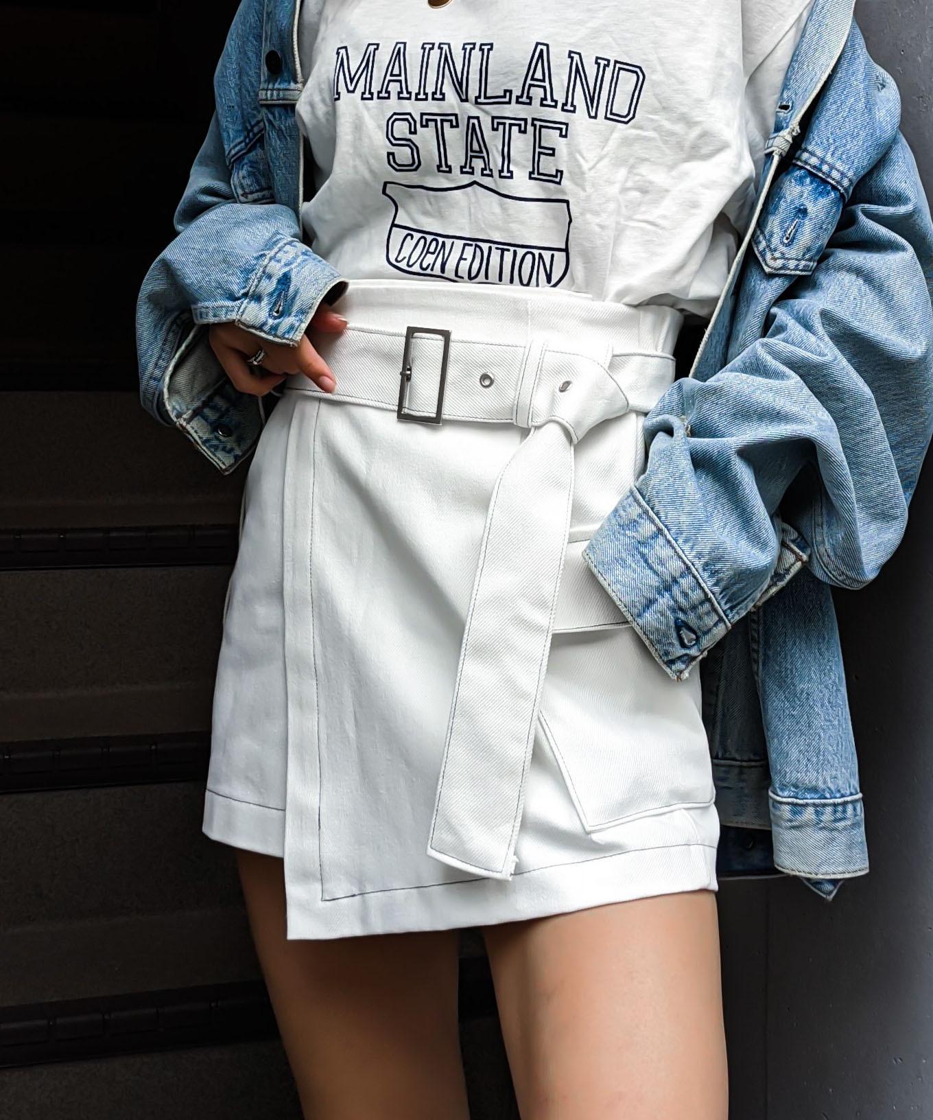 Stitch lap skirt