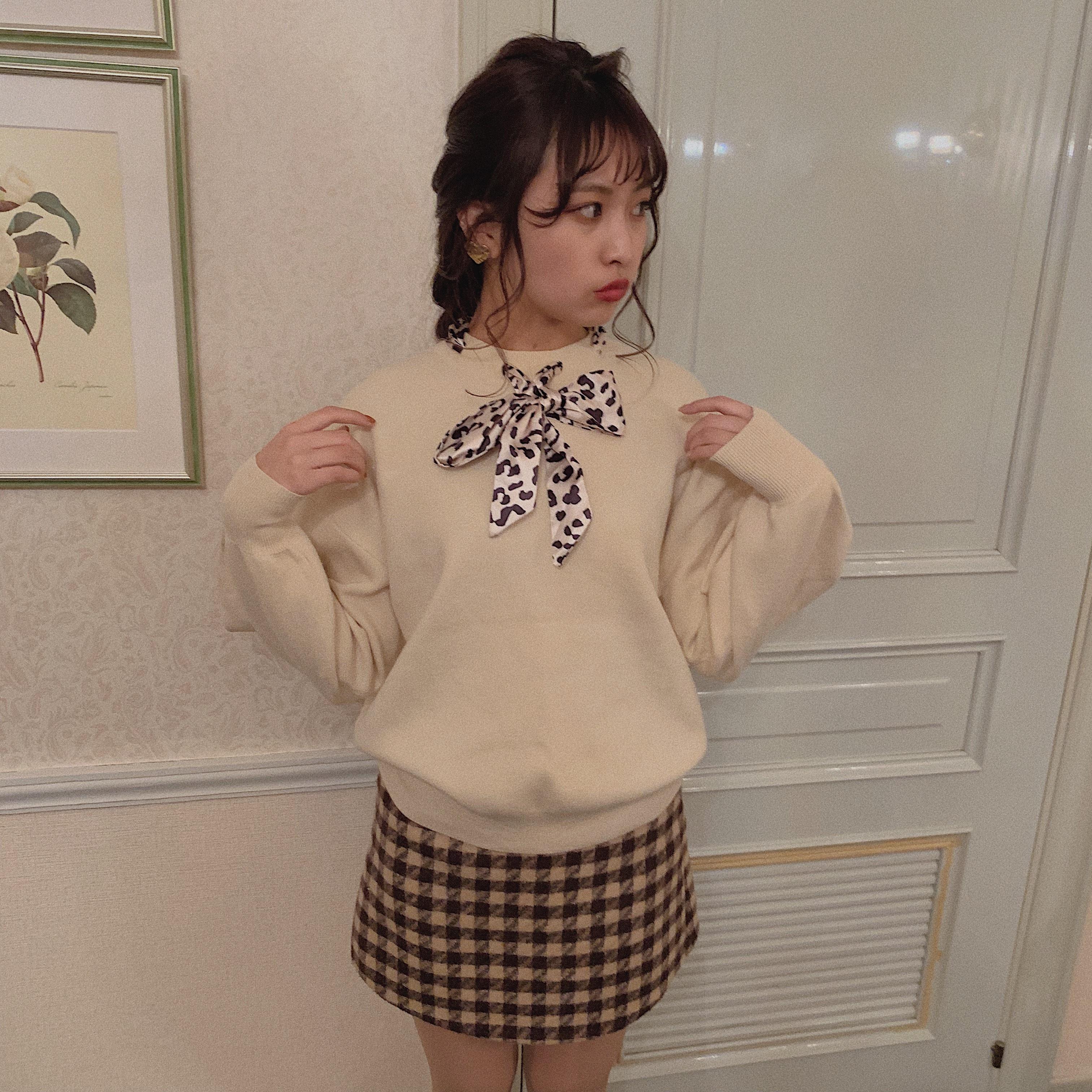 dalmatian ribbon knit (White/beige)