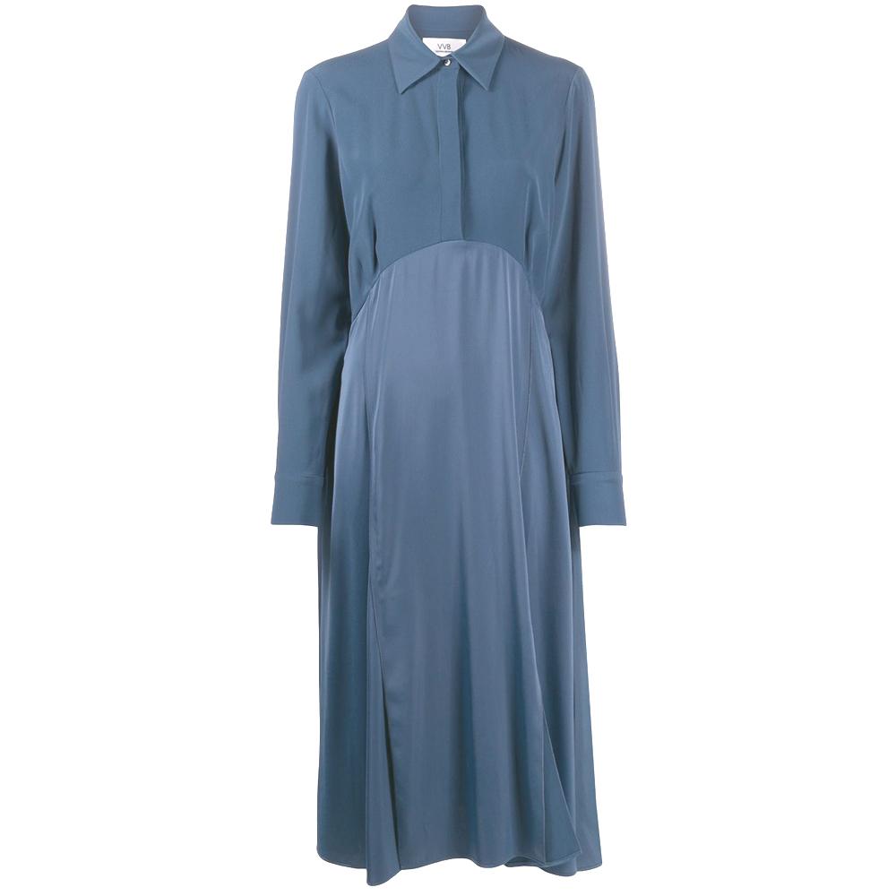 VVB CRAPE DRESS BLUE