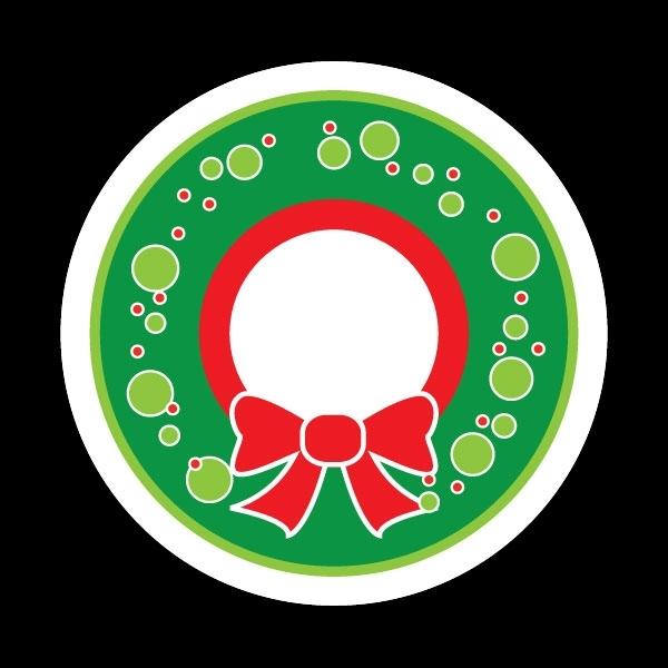 ゴーバッジ(ドーム)(CD0770 - Seasonal Wreath) - 画像1