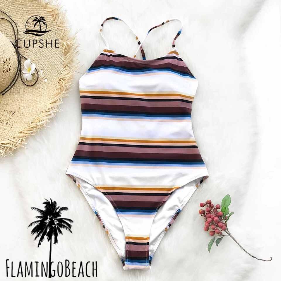 【FlamingoBeach】mix border monokini モノキニ