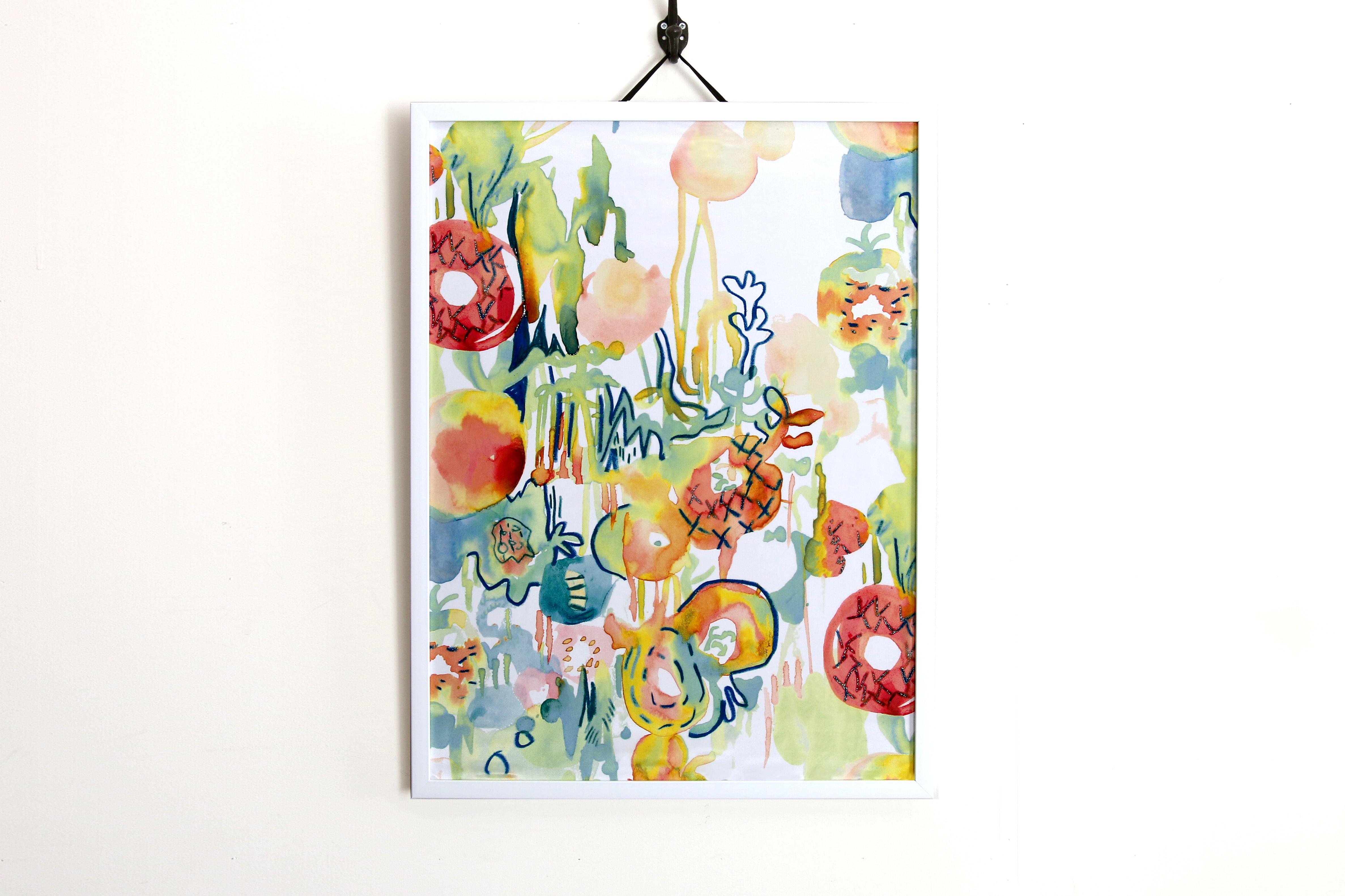 【アートフレーム】融ける花 -Natural-