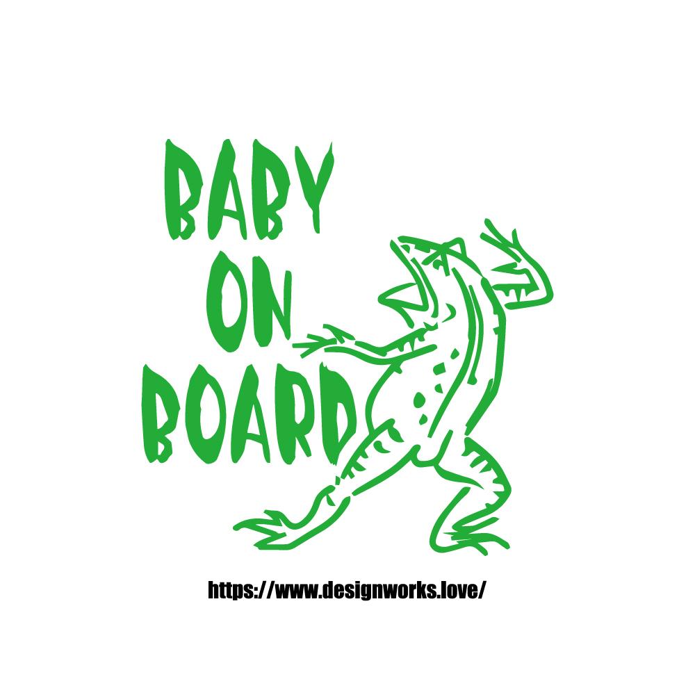 全10色 BABY ON BOARD 鳥獣戯画 かえる ステッカー