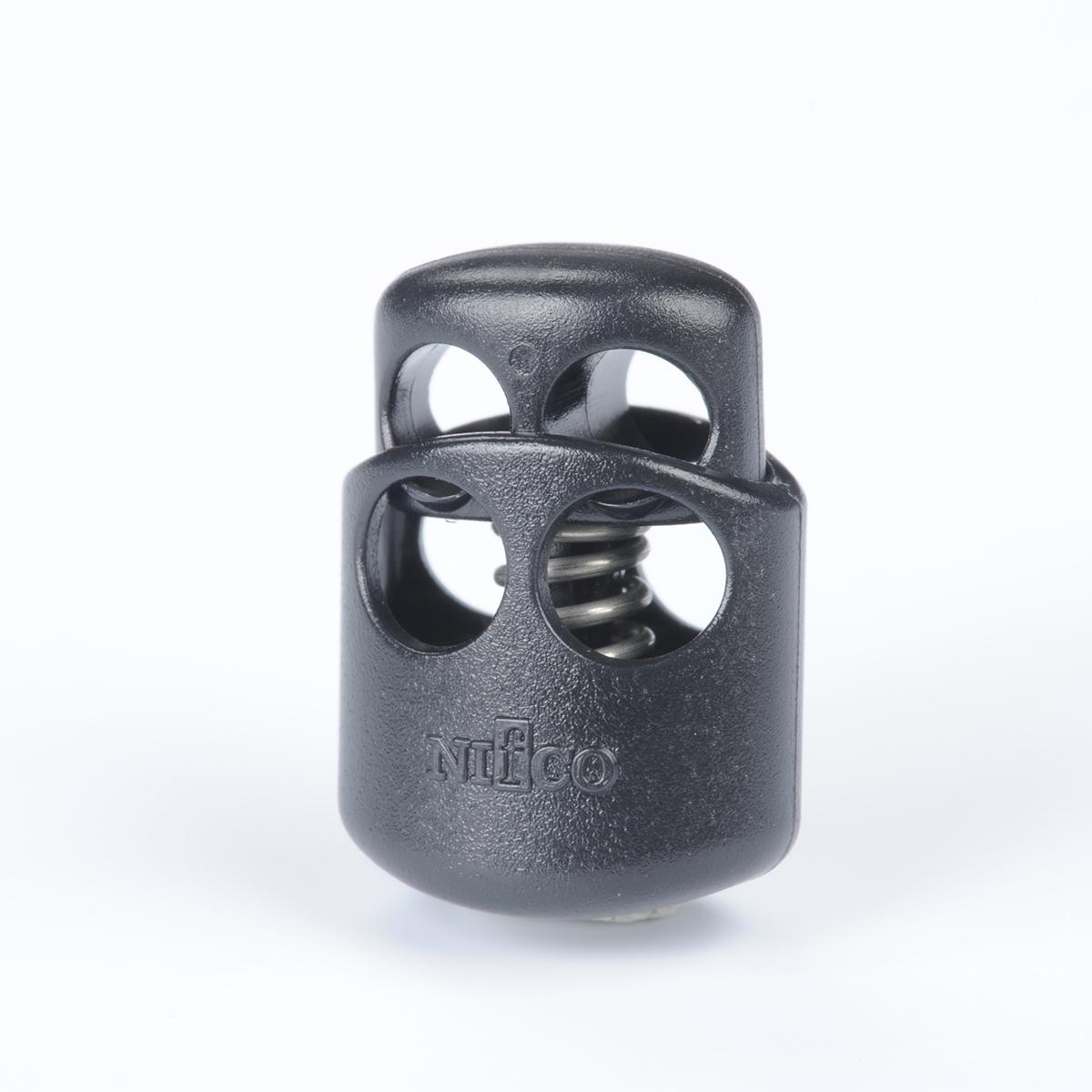 nifco  コードロック CL24-MS 3㎜ゴムひも2本用 黒 2個入り