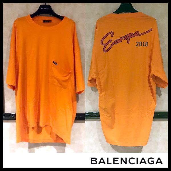 ffbee6ccb4f8 ☆BALENCIAGA バレンシアガ Europe 2018 オーバーサイズ ポケットTシャツ ...
