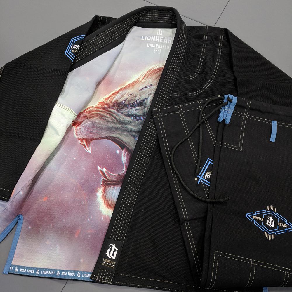 WAR TRIBE GEAR LIONHEART GI ブラック|ブラジリアン柔術衣