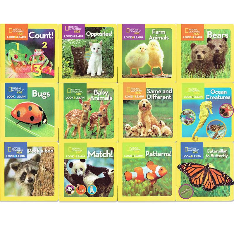 ナショジオキッズ 「Look&Learn」ボードブック 12冊セット