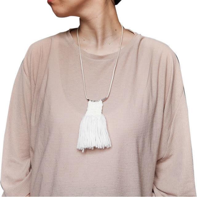 ≪オリジナル≫手織りネックレス【無垢】