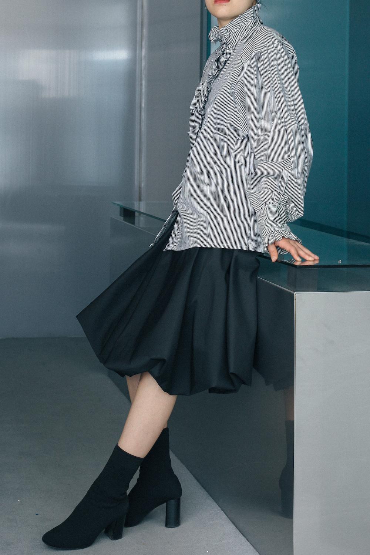 90's Italian Cotton & Viscose Balloon Skirt