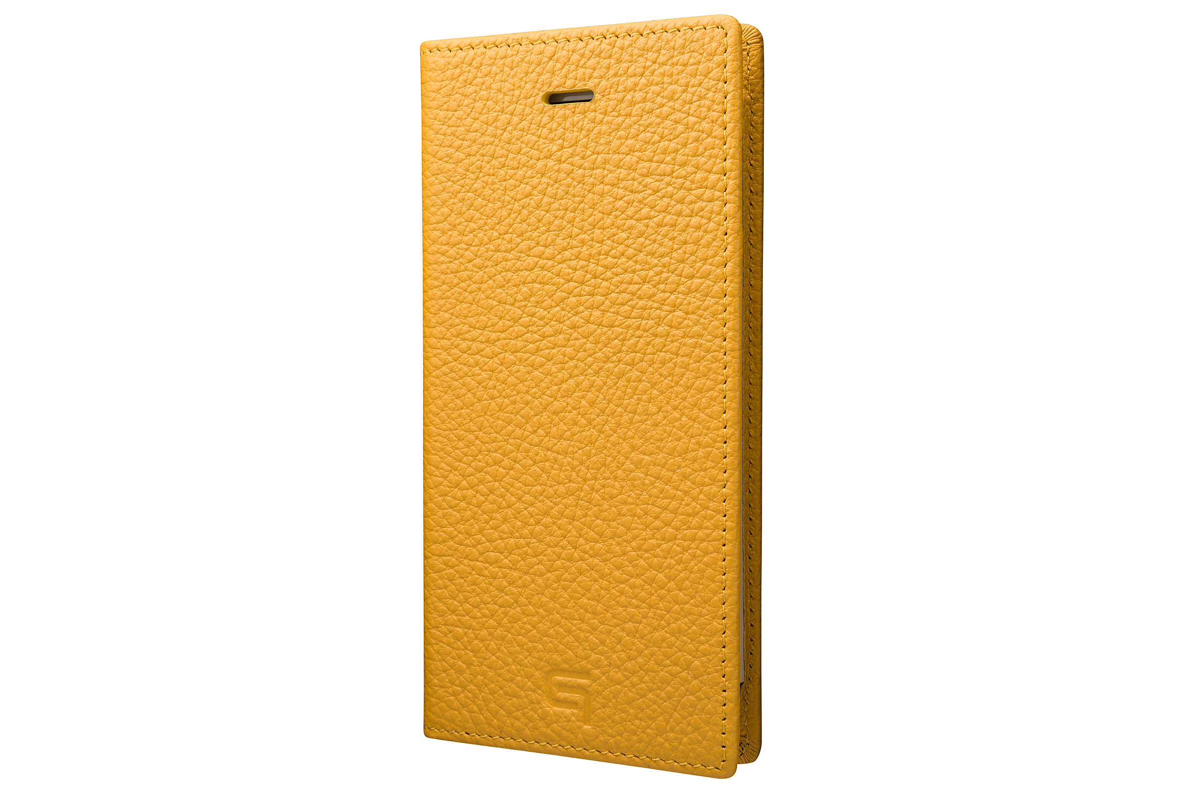 GRAMAS Shrunken-calf Full Leather Case for iPhone 7(Yellow) シュランケンカーフ 手帳型フルレザーケース - 画像1