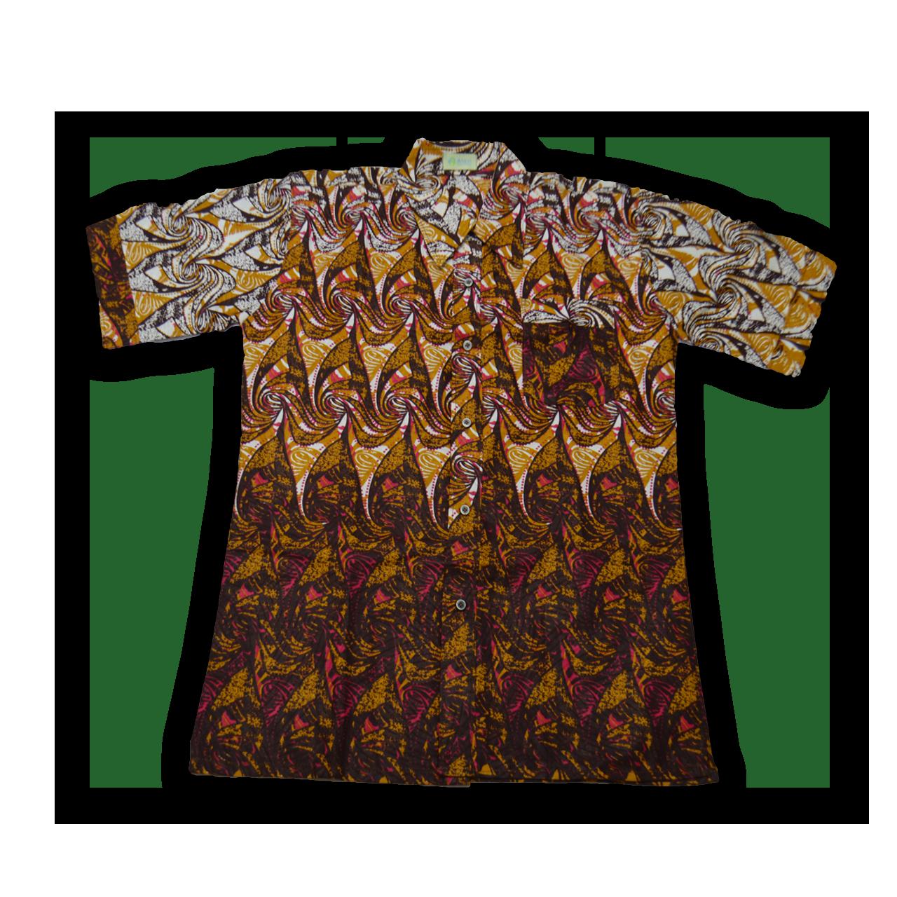 アフリカ柄 シャツ(XL)B