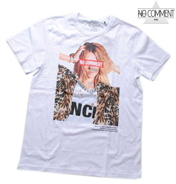 NO COMMENT PARIS ノーコメント パリ Tシャツ 半袖 クルーネック Tシャツ メンズ 正規販売店 LTN217 ホワイト