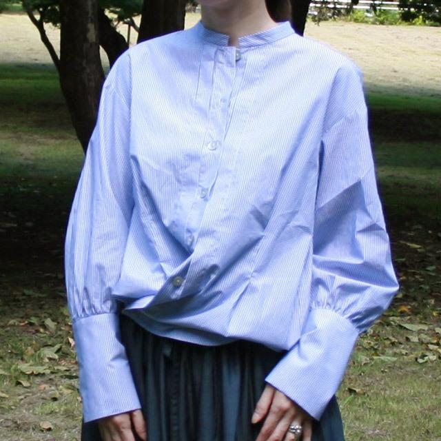 オーガニックコットンkotori刺繍 チビスタンドカラーシャツ&カシュクールシャツ