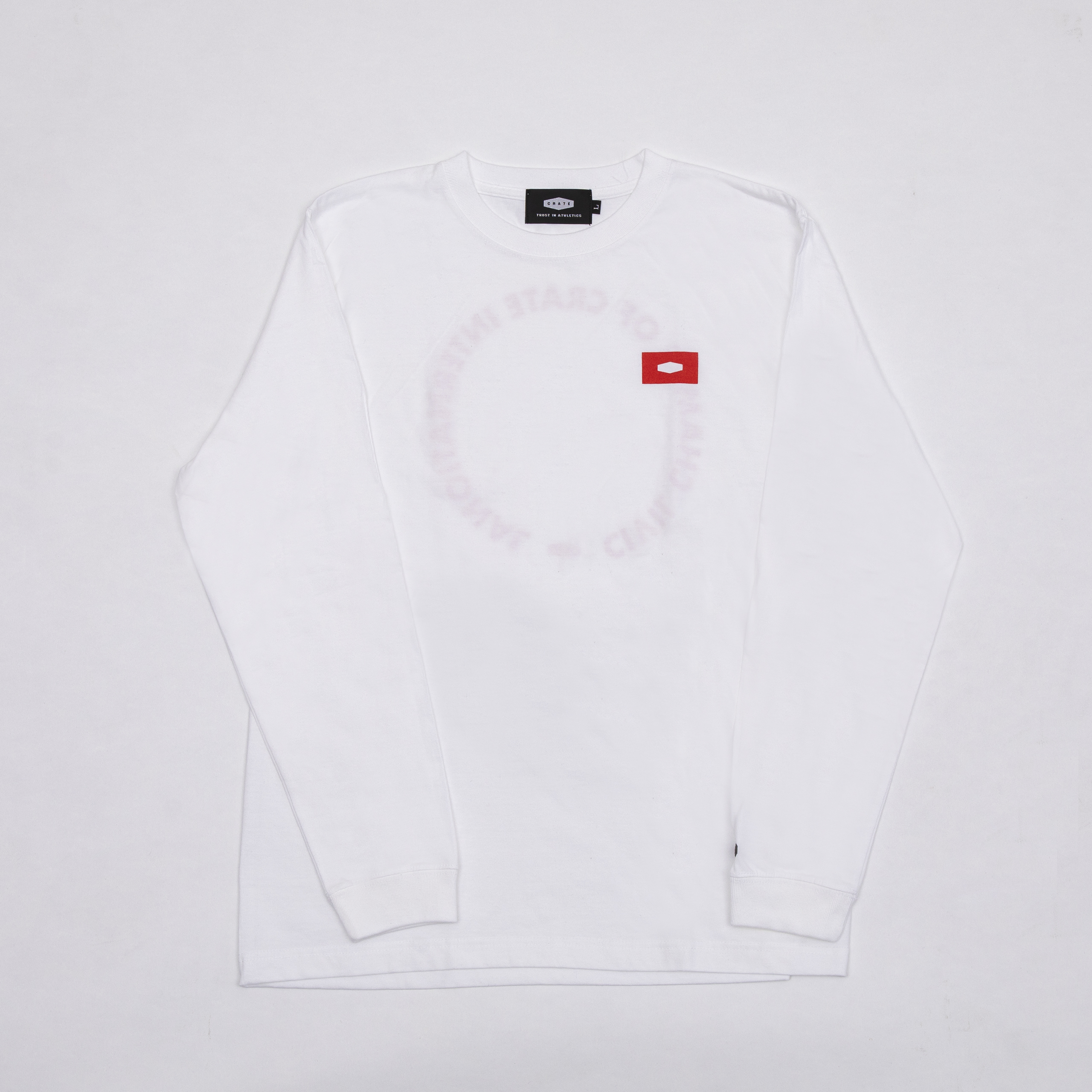 CIVIL CHAMP CIRCLE L/S T-SHIRTS WHITE