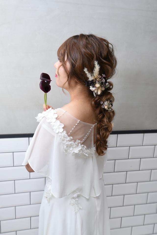 【クリップタイプドライフラワーヘアアクセシリーズ/クリップF】