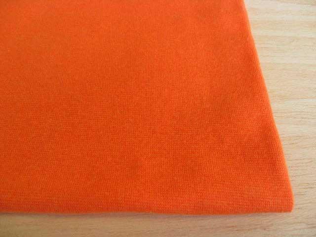 J&B定番 綿30スパンフライス無地 オレンジシャーベット #17 NTM-1831