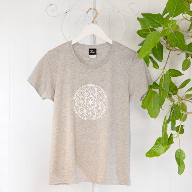 高次元波動Tシャツ フラワーオブライフ グレー